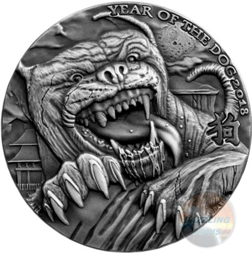 THE HOUND OF BASKERVILLES 1 oz Ultra HR Silver Coin The Ominous Lunar Calendar series 2018 Chad