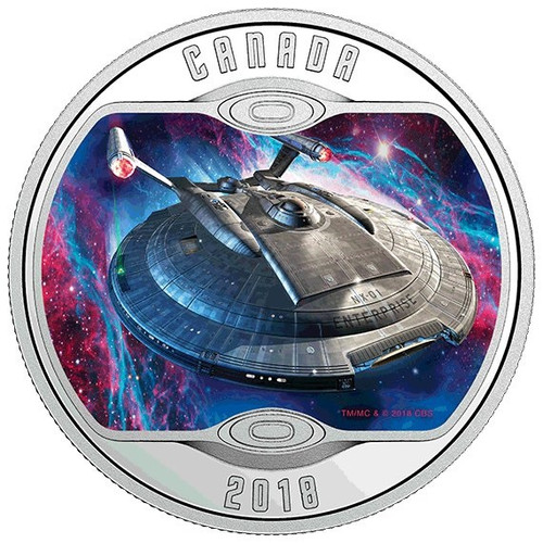 Star Trek™ - ENTERPRISE NX-01 - Silver Glow-in-Dark Coin 2018