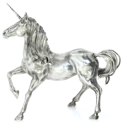 The Silver Unicorn – 3D STATUE –13 oz Silver 3D STATUE - SERIAL NUMBER