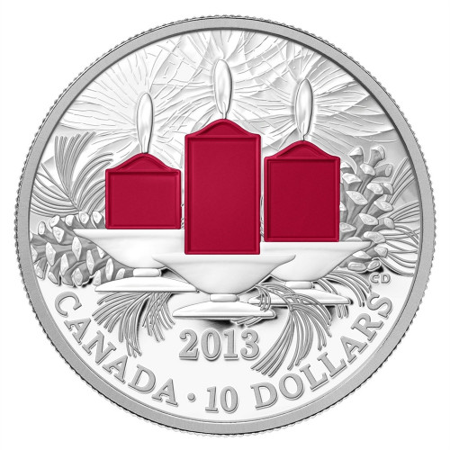 Holiday Candles Silver Proof Coin - Canada 2013