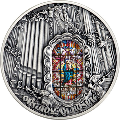 The Organs of Oliwa Cathedral 2 Oz Silver Coin 2000 Francs