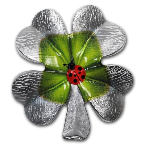 CLOVER Four Leaf Shape 2 Oz Silver Coin 2000 Francs Cameroon 2018