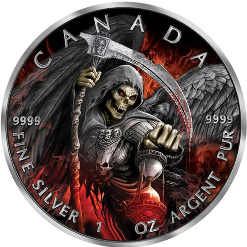 GRIM REAPER Death APOCALYPSE 1 Oz Silver Coin 5$ Canada 2017