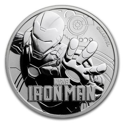 IRON MAN™ - 1 OZ SILVER COIN - MARVEL™ SERIES 2018 TUVALU