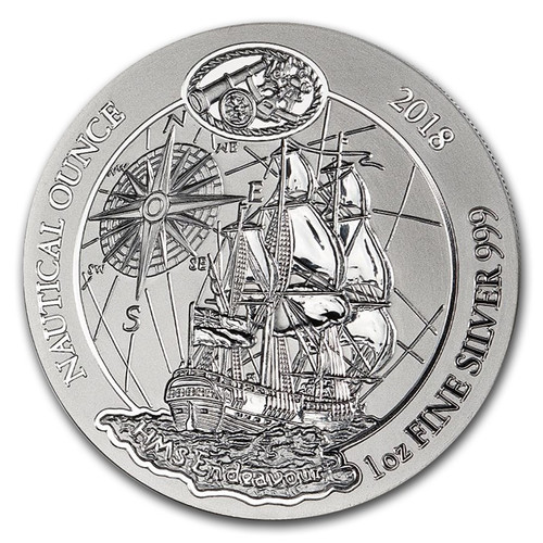 The HMS Endeavour Nautical Ounce 1 oz Silver Coin 2018