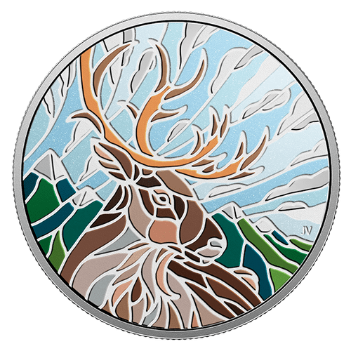 CARIBOU – CANADIAN MOSAICS – 2018 $20 1 oz Proof Silver Coin