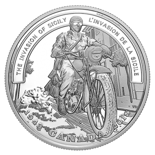 THE INVASION OF SICILY – SECOND WORLD WAR BATTLEFRONT SERIES –2018 $20 1 oz Proof Silver Coin