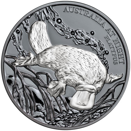 PLATYPUS Australia at Night 1 Oz Silver Coin 1$ Niue 2018