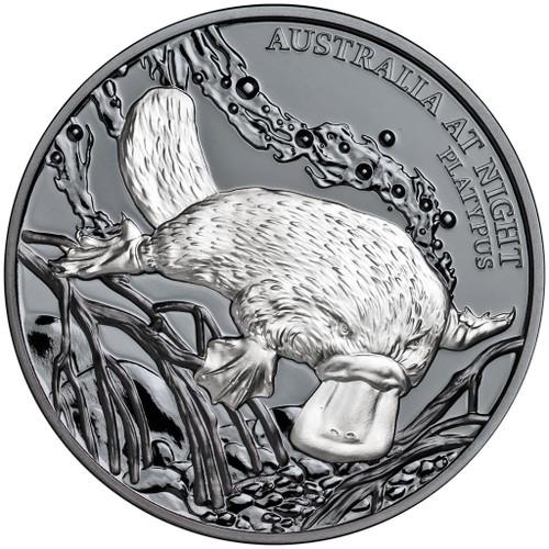 PLATYPUS Australia at Night 1 Oz Silver Coin 1$ Niue 2018