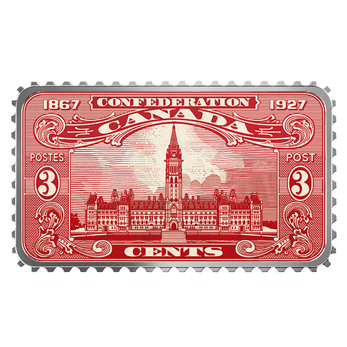 CANADA'S HISTORICAL STAMPS: PARLIAMENT BUILDING Silver Coin 2018