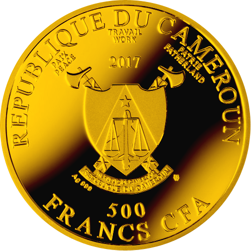 Ave Maria Silver Coin 500 Francs Cameroon 2017