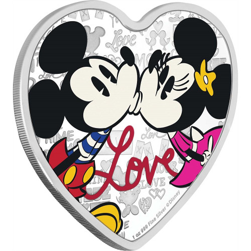 DISNEY LOVE – MICKEY & MINNIE MOUSE – 2019 1 OZ Silver Coin 2019 Niue