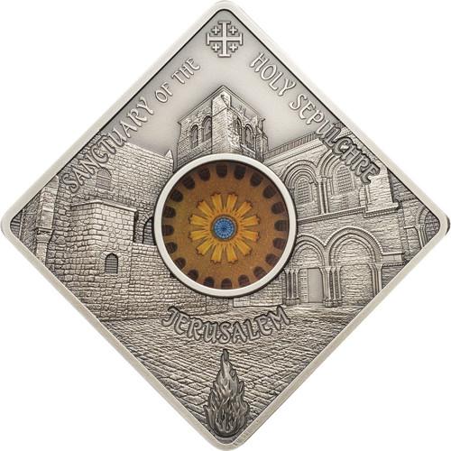 Holy Sepulchre Jerusalem Sacred Art Silver coin 10$ PALAU 2018