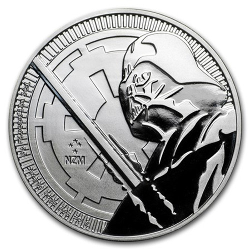 DARTH VADER LIGHT SABER – 2018 1 OZ PURE SILVER COIN – NIUE