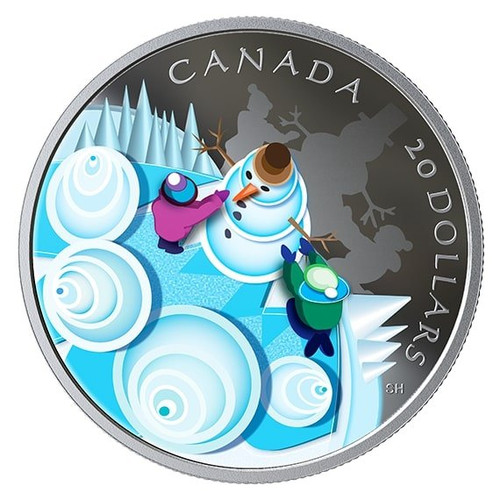 MYSTICAL SNOW DAY – 2019 $20 1 oz Fine Silver Coin - Canada