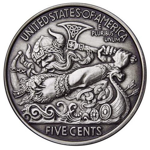 The Viking Berserker 1 oz Silver round with Serial Number