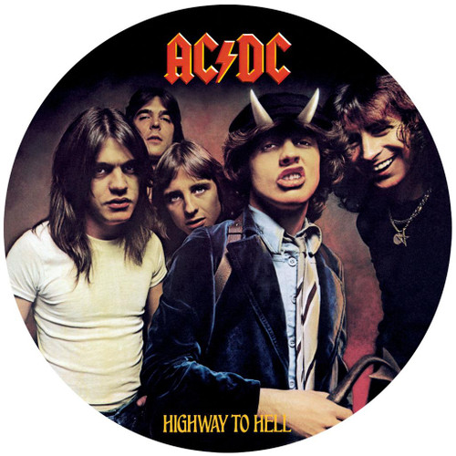 AC/DC HIGHWAY TO HELL in Vinyl design Silver Coin Cook Islands 2018