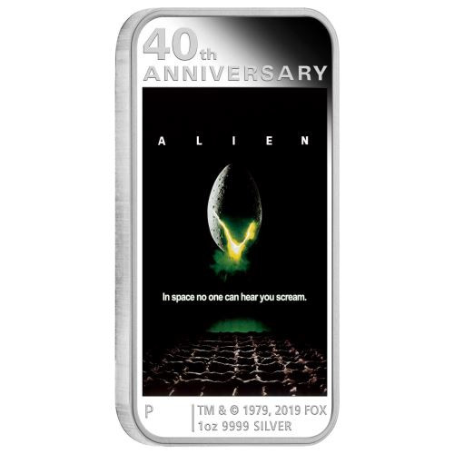 ALIEN 40th Anniversary 1 Oz Silver Coin 1$ Tuvalu 2019