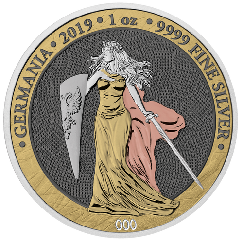 2019 GERMANIA 6 Precious Metals 5 Mark 1 Oz .9999 Silver Round