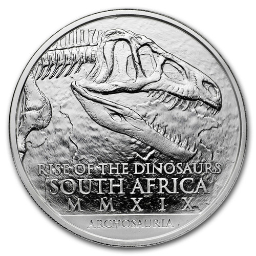 Natura - ARCHOSAUR Palaeontology 1 Oz Silver - South Africa 2019