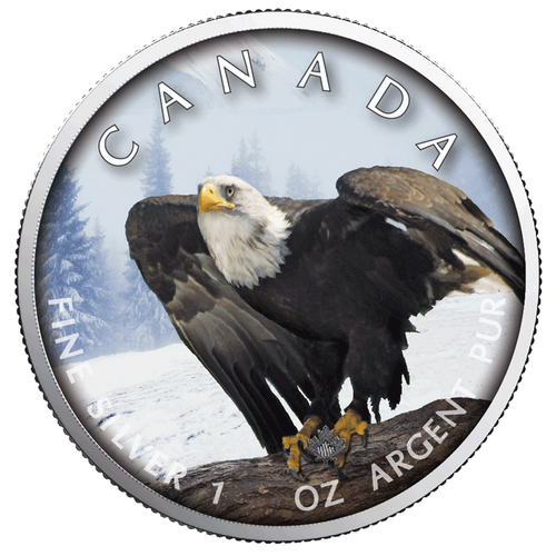 BALD EAGLE MAPLE LEAF 1 Oz Silver Coin 2019