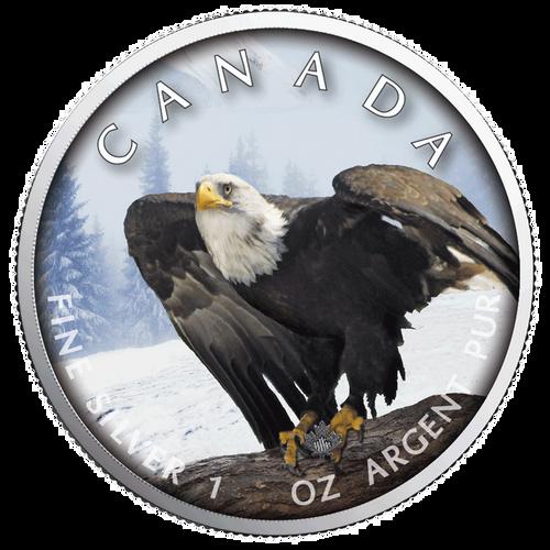 BALD EAGLE MAPLE LEAF 1 Oz Silver Coin 2019