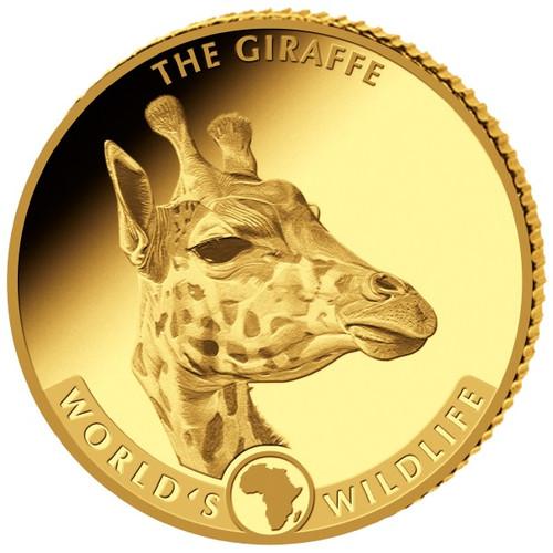 GIRAFFE African Wildlife  0.5 g   Pure Gold Coin  Congo  2019