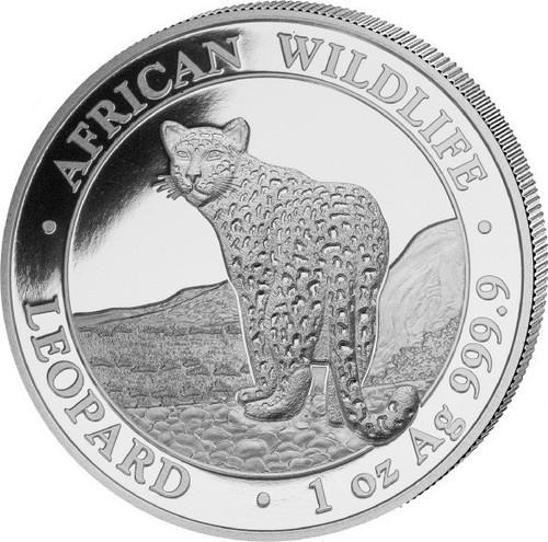 LEOPARD African Wildlife 1 oz silver  coin Somalie 2019