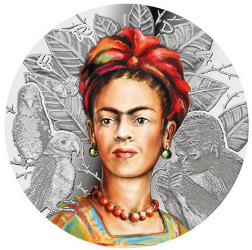 FRIDA KAHLO Legendary Woman 1 Oz Silver Coin 1000 Francs