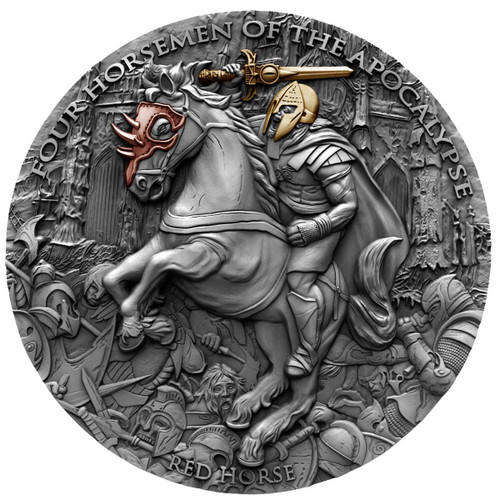 RED HORSE Four Horsemen Of The Apocalypse 2 Oz Silver Coin 5$ Niue 2019