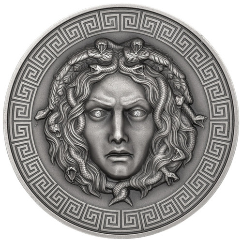 MEDUSA Diamond eyes Silver coin 3 oz AF 3000 FR Cameroon 2019