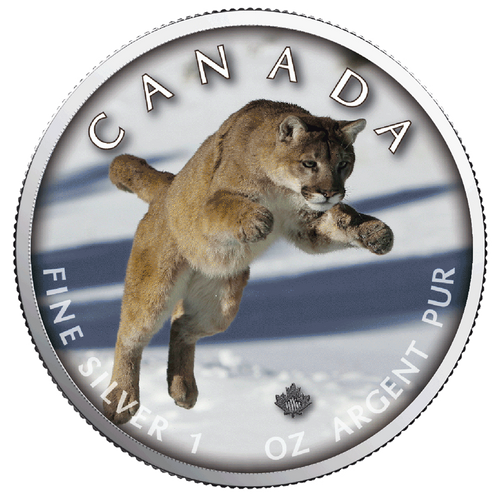 COUGAR MAPLE LEAF 1 Oz Silver Coin 2019