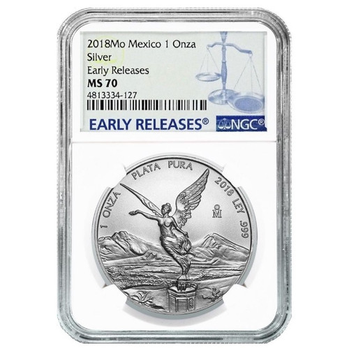 LIBERTAD First release NGS MS70 Blue Label 1 oz Silver Coin MEXICO 2018