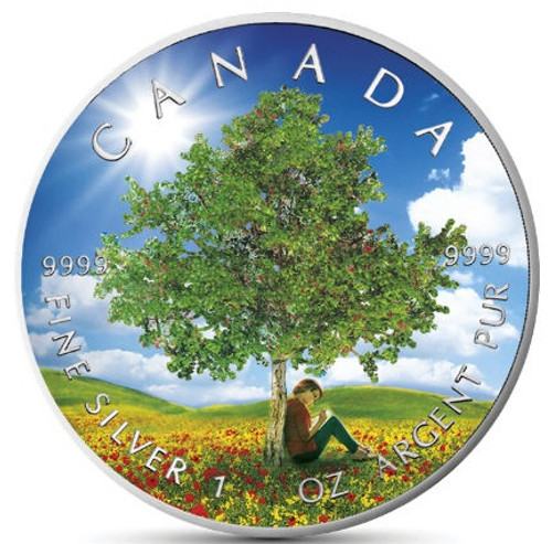 "SUMMER ""Four Seasons"" Maple Leaf Series 1 Oz Silver Coin Canada 2019"