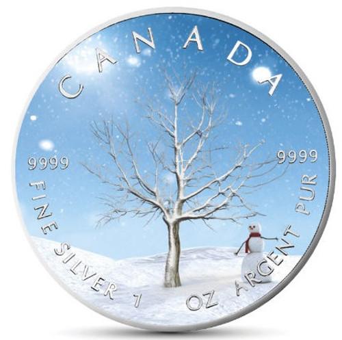 "WINTER ""Four Seasons"" Maple Leaf Series 1 Oz Silver Coin Canada 2019"