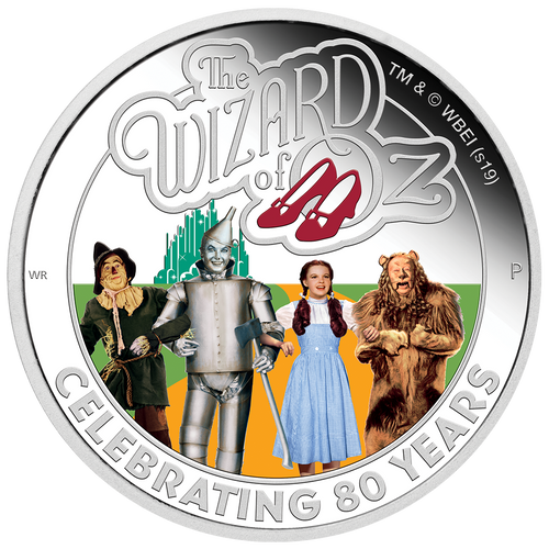 WIZARD OF OZ 80th Anniversary 1 Oz Silver Coin 1$ Tuvalu 2019