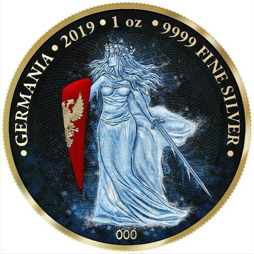 ICE GERMANIA Space X 5 Mark 1 Oz .9999 Silver Round COA 2019