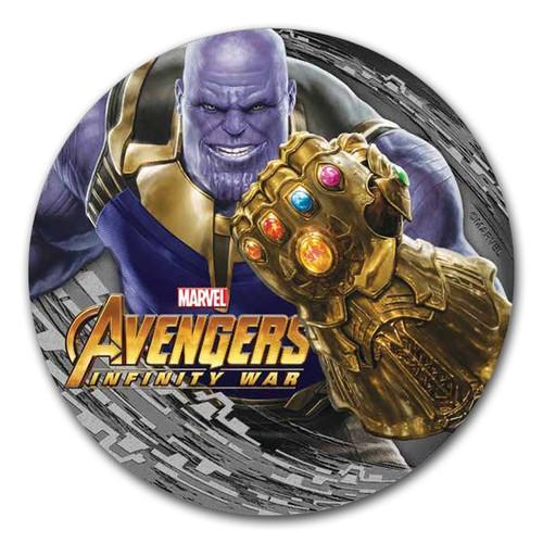 THANOS Avengers Infinity Wars Marvel 2 Oz Silver Coin 2$ Fiji 2018