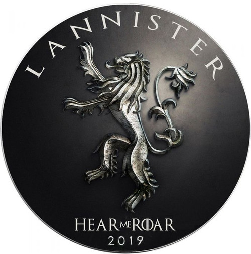 LANNISTER Fire Game of Thrones GOT Walking Liberty 1 Oz Silver Coin 1$ USA 2019