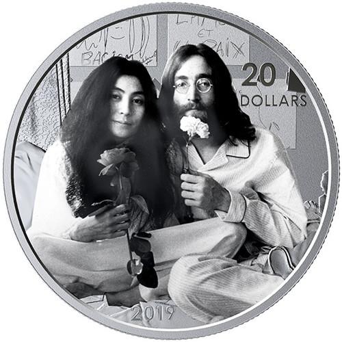 Give Peace a Chance - John Lennon Yoko Ono - $20 Silver Coin Canada 2019
