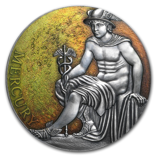 MERCURY – PLANETS AND GODS 3 oz Silver Coin 3000 FR Cameroon 2019