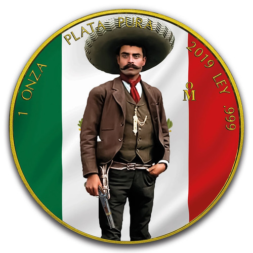 EMILIANO ZAPATA – 1 OZ Libertad Coin – 24K Gold PL -Color 2019