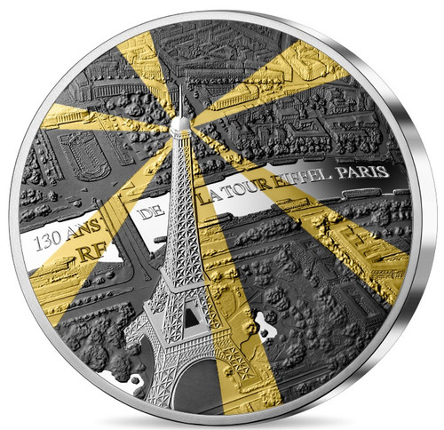 EIFFEL TOWER 130th Anniversary 1 Oz Silver Coin 10€ Euro France 2019