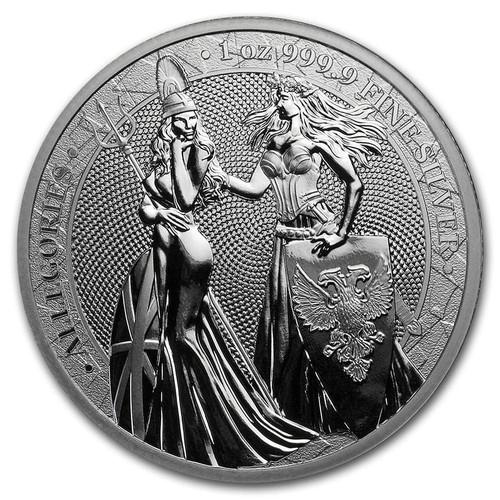 BRITANNIA & GERMANIA 2019 – The Allegories 5 Mark 1 OZ Pure Silver