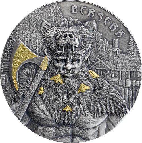 "The Warriors ""Berserk"" 2 oz High Relief Silver Coin 2019 Germania Mint"