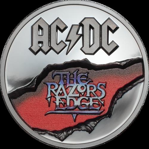 AC/DC RAZORS EDGE 2 Oz Silver Coin 10$ Cook Islands 2019