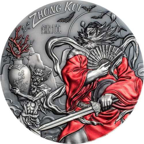 ZHONG KUI Asian Mythology 3 Oz Silver Coin $20 Cook Islands