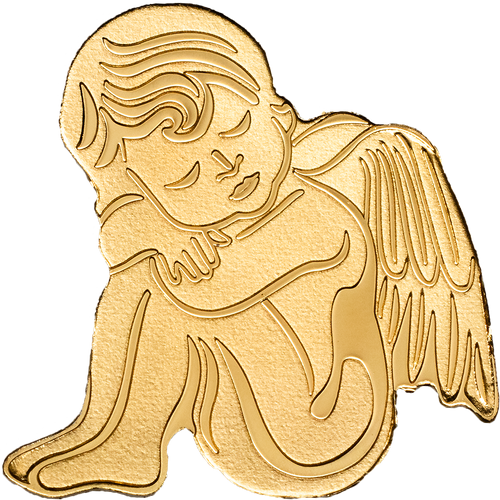 GUARDIAN ANGEL 0.5 g Golden Coin Palau