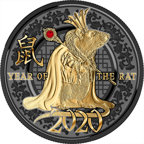 YEAR OF THE RAT Success Silver Proof Coin 500 Francs Cameroon 2020