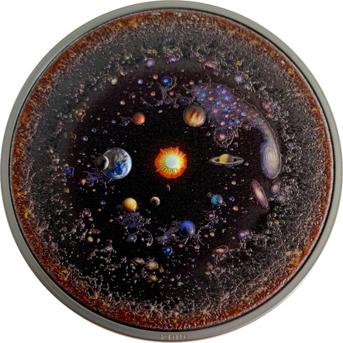 UNIVERSE Space Final Frontier 3 Oz Silver Coin $20 Palau 2019